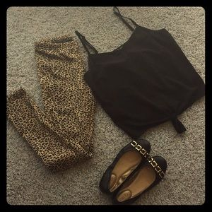 Pants - Leopard fleece lined leggings